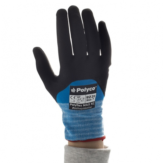 Polyco Polyflex MAX KC 3/4-Coated Nitrile Gloves 923